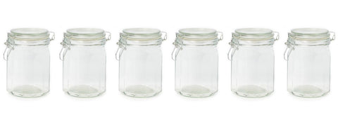 Set of Six 750ml Storage Jars