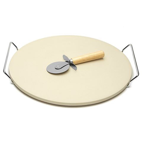 Vermont & Lewis Large Pizza Stone with Cutter