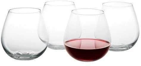 Artland Stemless Round Glasses Set 4
