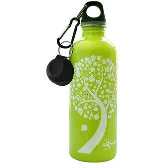 Cheeki Stainless Steel Drink Bottle - Green Owl