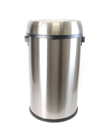 Stainless Steel Bullet Rubbish Bin Round 65 Litres