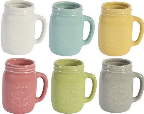 Mason Jar Rocket Espresso Mugs Set of 6