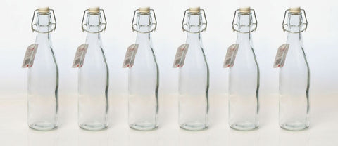 Glass Bottle Small 600ml - Set 6