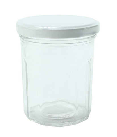 Jam Jar with Red Checkered Lid 250ml - 6 Pack