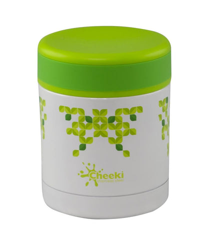 Cheeki Food Jar With Leaves Design Online NZ