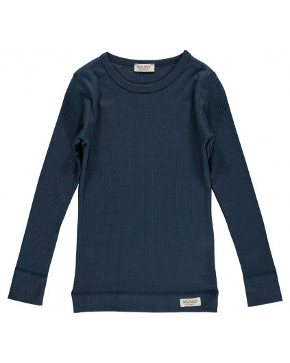 MODAL LONGSLEEVE TOP BLUE