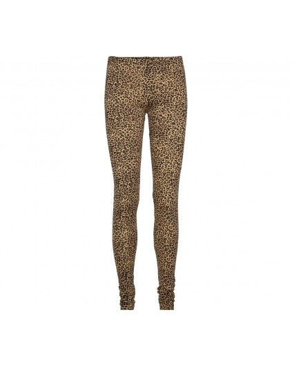 LEOPARD LEGGINGS BROWN - ADULT