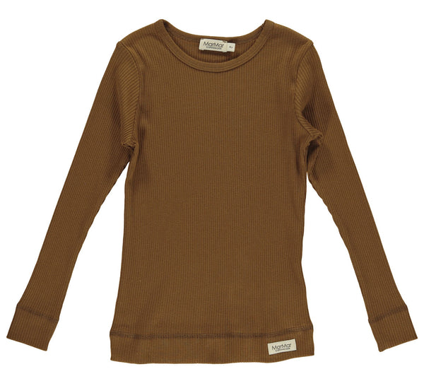 MODAL LONGSLEEVE TOP - LEATHER