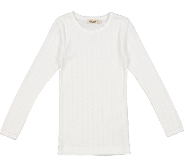 TAMRA LONGSLEEVE TOP - CLOUD POINTELLE