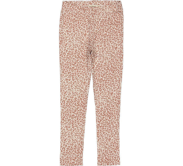 LEOPARD LEGGINGS - ROSE BROWN