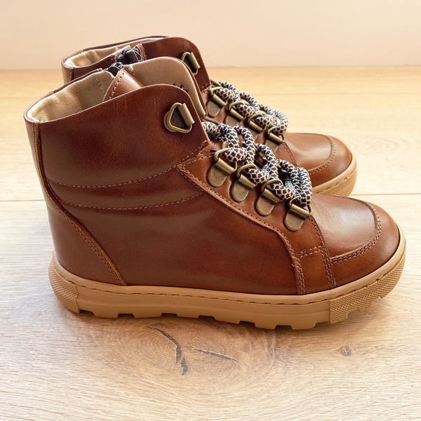 LEATHER HIGH TOP SNEAKER BOOT