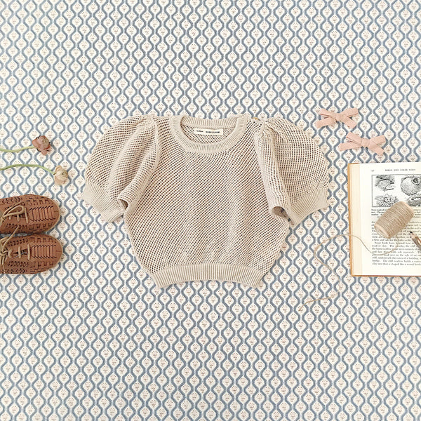 MIMI KNIT TOP - MILK