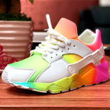 GIGIFOX 2020 INS HOT Big size 43 Fashion Breathable walking Sneakers Cosy Leisure Shoes Bags On Sale Match Women Flats