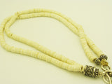 South African Ostrich Shell Beads with Pyrite