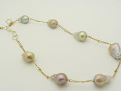 South Sea Gold-Pink Pearl Necklace