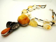 Amber, Citrine, Pearl's perfect combination