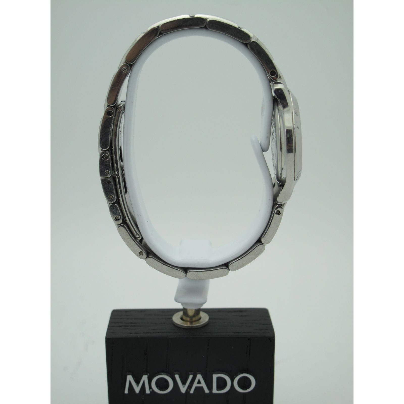 Movado Ladies Stainless Steel Museum Black Dial Quartz Watch 0604061