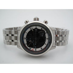 Timex TX Men's World Time Airport Lounge Stainless Steel Black Dial Watch T3C477