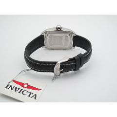 Invicta Lupah Ladies Stainless Steel 0.15CT. Diamond Bezel Black Band Watch 2151