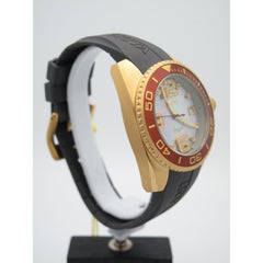 Invicta Angel Ladies Gold Mother Of Pearl w. Diamond Dial Rubber Band Watch 0498