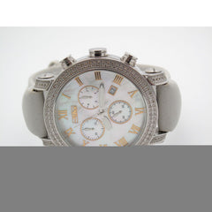 JoJo Classic Men's Stainless Steel 2.00CT Diamonds Chronograph Dial Watch JCL-03597