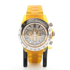 Invicta Professional Speedway Chronograph Dial Gold Plastic Band Watch 3085