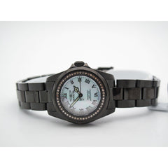 Invicta Ladies Diamond All Black Diamond Bezel Mother Of Pearl Dial Watch 4784