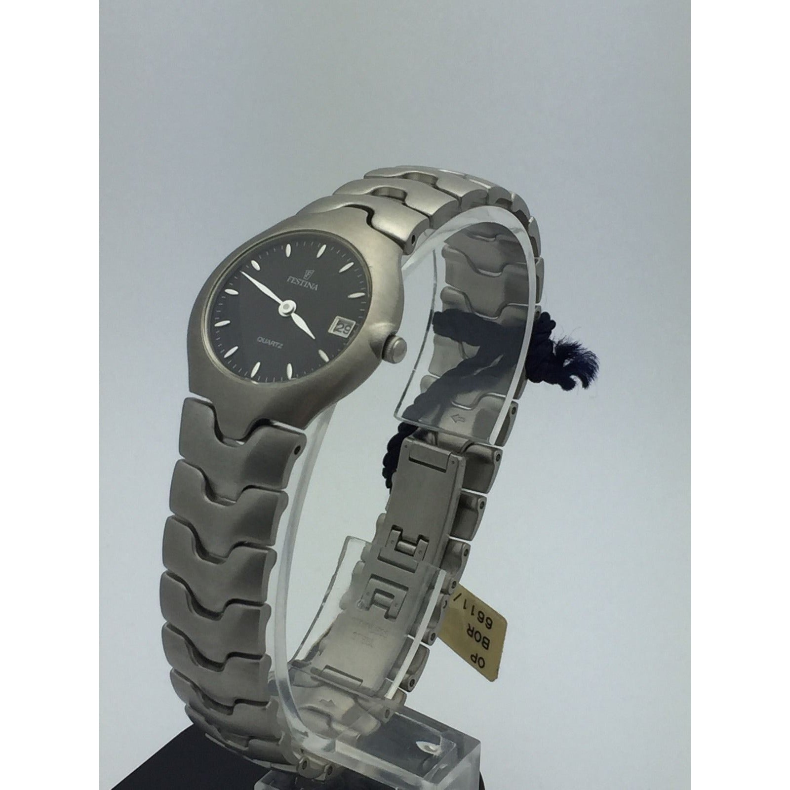 Festina Ladies Black Dial Stainless Date 30M Registered Model Watch 6611/4