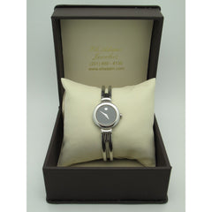 Movado Ladies Stainless Steel Museum Black Dial Swiss Quartz Watch 0604428