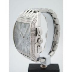 JoJo Chronograph Men's Stainless Steel 2.00CT Diamond Mother Of Pearl Dial Watch JS2-01418