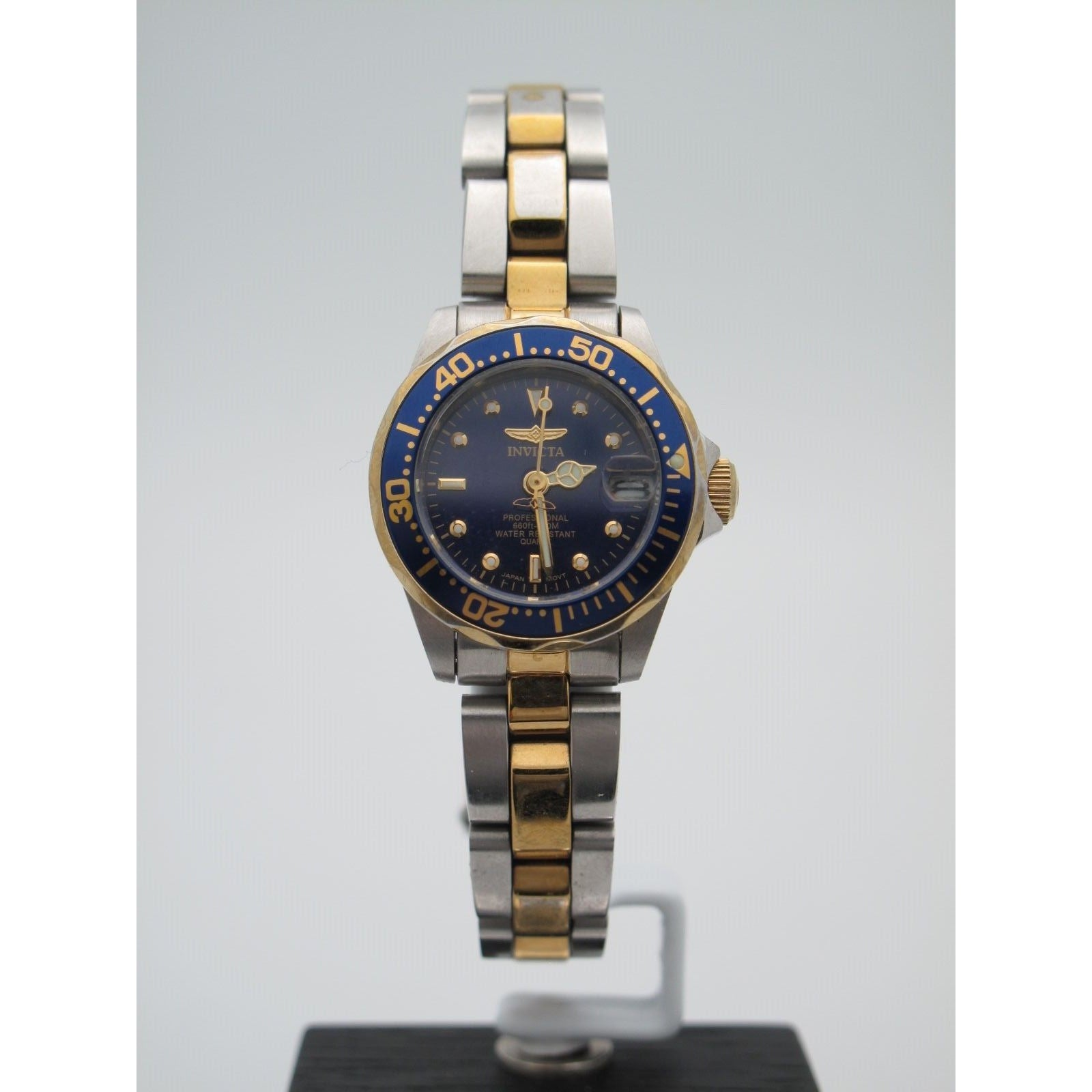 Invicta Ladies Professional Two-Tone Stainless Steel Navy Blue Dial Watch 8942A