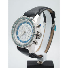 Techno Diezel Men's 1.75CT Treated Blue Diamonds Blue & Silver Chrono Dial Watch