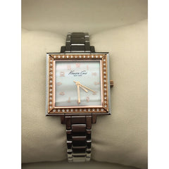 Kenneth Cole Ladies Mother of Pearl Dial Rose Gold and Stainless Watch KC4660