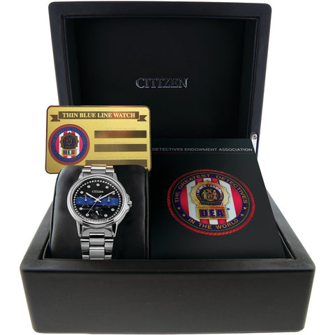 Citizen Ladies DEA The Detectives' Endowment Association Multifunction Dial Crystal Women