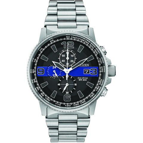 Citizen Men's Thin Blue Line™ Watch Chronograph 200M WR Eco Drive CA0291-59E