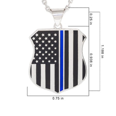 TBLP-SWG 14k White Gold Thin Blue Line Pendant