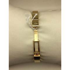 Calvin Klein White Dial Stainless Gold 30M Ladies Watch K0615201