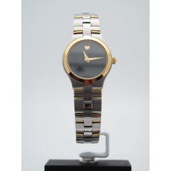 Movado Ladies Juro Two-Tone Stainless Steel Black Dial Quartz Watch 6915327