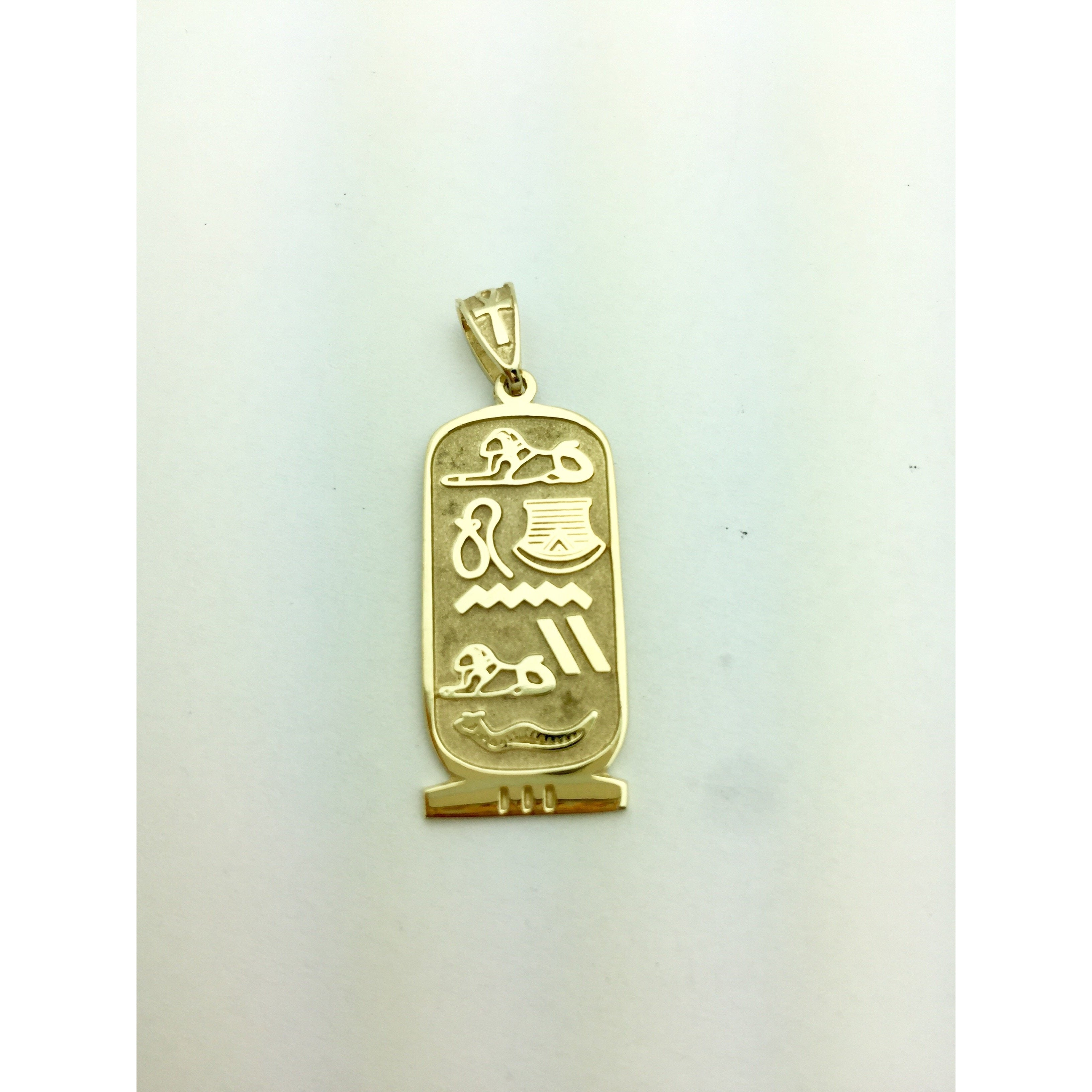 CHAR001 14K YELLOW GOLD LONG LIFE CHARM EGYPTIAN HIEROGLYPHIC ANK