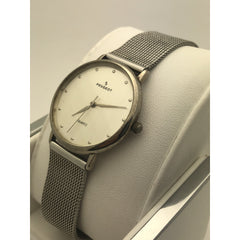 Peugeot Ladies Silver Dial Quartz Silver Tone Stainless Steel Watch 9840