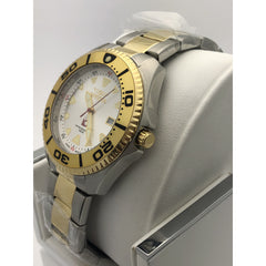 Invicta Men's Two Tone Stainless Steel Case and Bracelet White Dial Watch 3872
