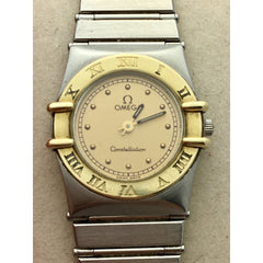Omega Constellation Ladies 18k Gold and Stainless Steel Quartz Watch