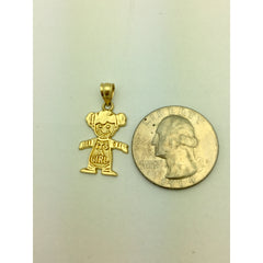 CHARJ001 14K Yellow Gold It's A Girl Charm , Baby Girl Charm