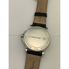 Raymond Weil Geneve Unisex White Dial Black Leather Strap Watch 5376M