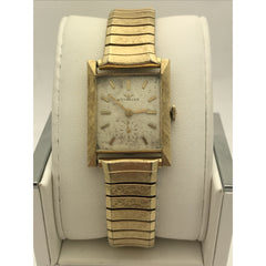Wittnauer Unisex 14K Gold Case Stretch Band Watch