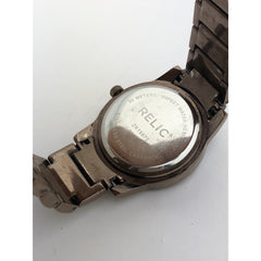 Relic Ladies Brown Dial Brown Tone Stainless Steel Watch 991208