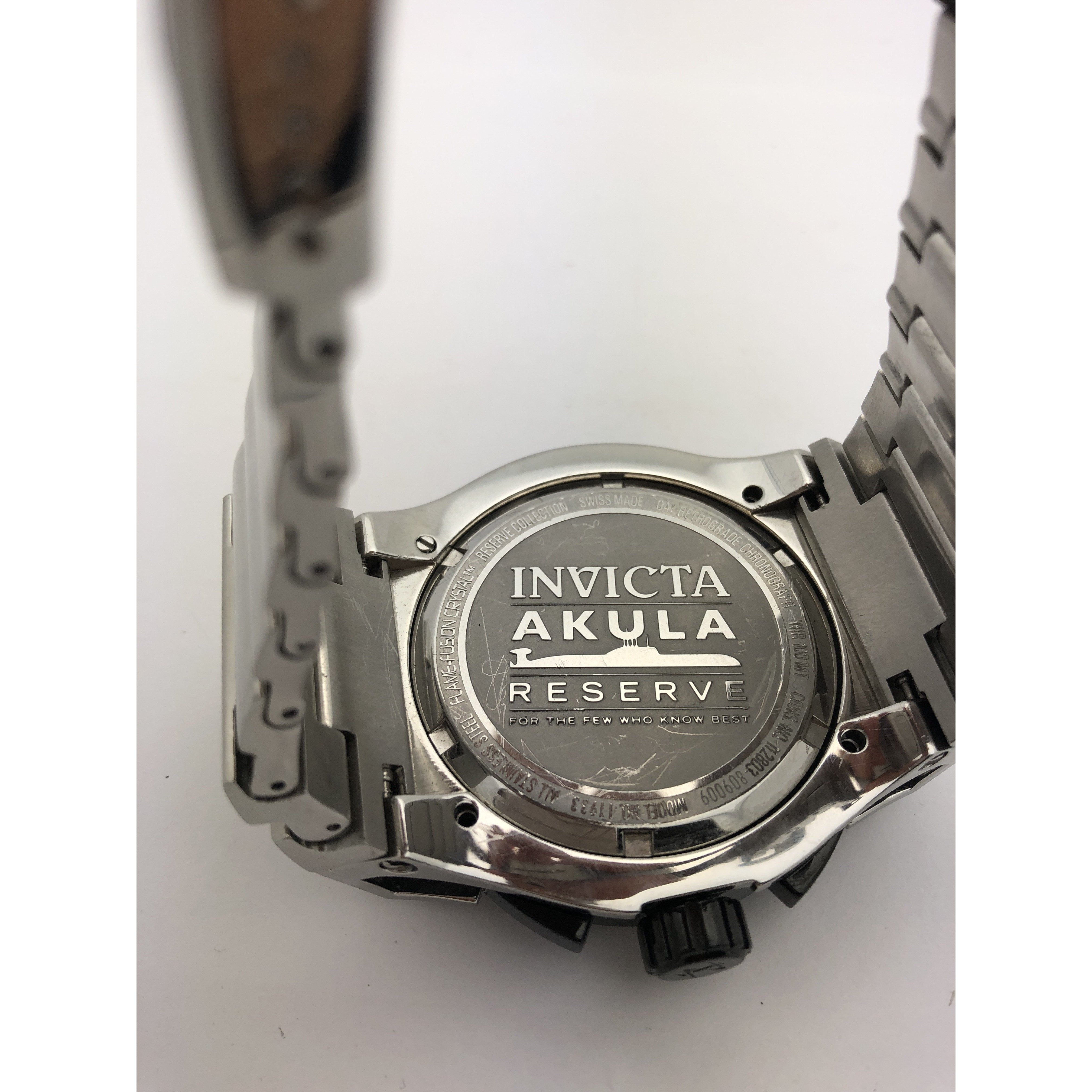 Invicta Men's Chronograph Silver Dial Silver Tone Stainless Steel Watch 11933