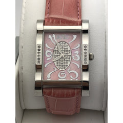 Lucien Piccard Ladies Pink Dial Stainless Steel Case Pink Brand Watch 1B-323