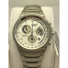 Casio Edifice Men's Silver Tone Dial Stainless Steel Bracelet Watch 4358