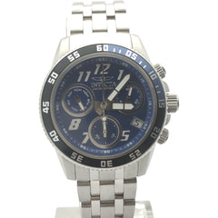Invicta Men's Blue Dial Chronograph Stainless Steel Case and Bracelet Watch